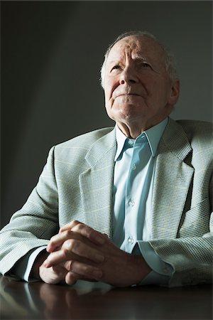 Portrait of Elderly Man in Studio Stock Photo - Premium Royalty-Free, Code: 600-06787021