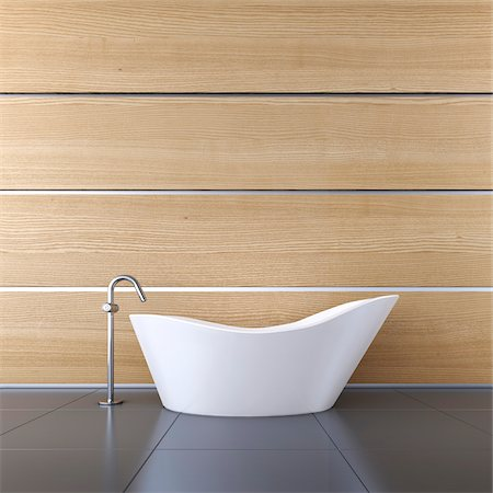 3D-Illustration of Bathtub Stockbilder - Premium RF Lizenzfrei, Bildnummer: 600-06808778