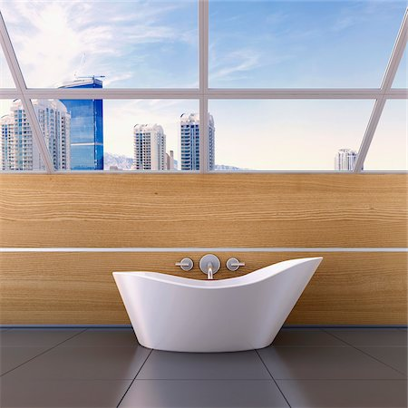 floor - 3D-Illustration of Bathtub Stock Photo - Premium Royalty-Free, Code: 600-06808779