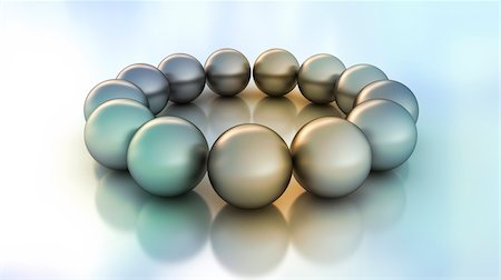 3D-Illustration of Spheres in Circle Stock Photo - Premium Royalty-Free, Code: 600-06808785