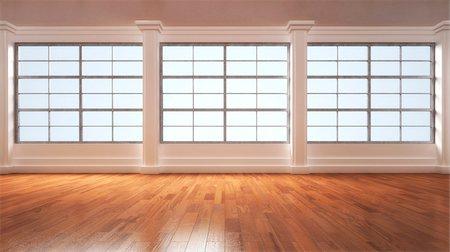 3D-Illustration of Empty Room Stock Photo - Premium Royalty-Free, Code: 600-06808788