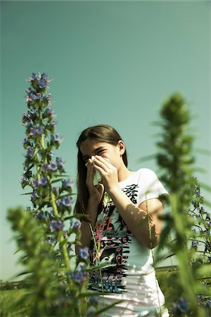 reaction - Girl having Allergic Reaction to Plants, Mannheim, Baden-Wurttemberg, Germany Stock Photo - Premium Royalty-Free, Code: 600-06808911