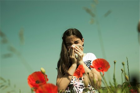 reaction - Girl having Allergic Reaction to Plants, Mannheim, Baden-Wurttemberg, Germany Stock Photo - Premium Royalty-Free, Code: 600-06808913