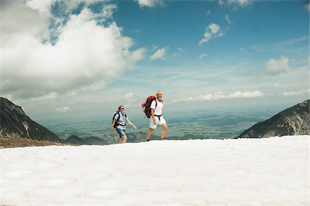 fitness   mature woman - Mature couple hiking in mountains, Tannheim Valley, Austria Stock Photo - Premium Royalty-Free, Code: 600-06826352