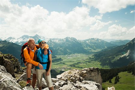 fitness   mature woman - Mature couple hiking in mountains, Tannheim Valley, Austria Stock Photo - Premium Royalty-Free, Code: 600-06826380