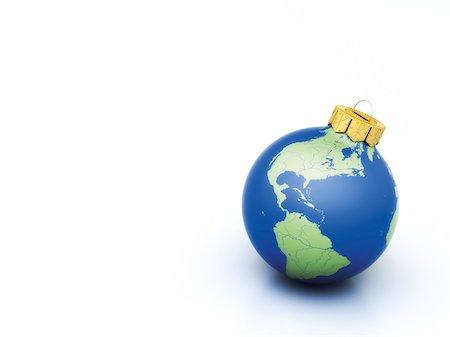 World Christmas ball on white background Stock Photo - Premium Royalty-Free, Code: 600-06841663