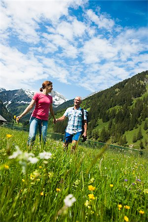 snow capped - Couple Hiking, Vilsalpsee, Tannheim Valley, Tyrol, Austria Stock Photo - Premium Royalty-Free, Code: 600-06841778