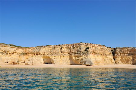portugal - Cliffs between Armacao de Pera and Portimao, Benagil, Lagoa, Portugal Stock Photo - Premium Royalty-Free, Code: 600-06841864