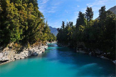 Hokitika Gorge, Kokatahi, West Coast, South Island, New Zealand Stock Photo - Premium Royalty-Free, Code: 600-06894943