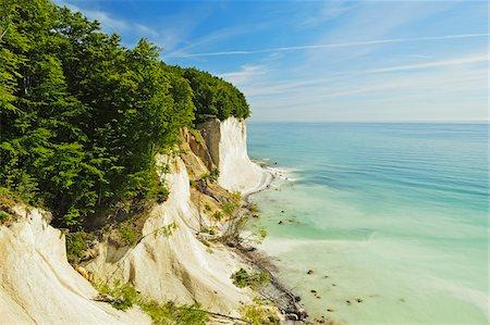 Chalk Cliffs and Sea, Jasmund National Park, Ruegen Island, Mecklenburg-Vorpommern, Germany Stock Photo - Premium Royalty-Free, Code: 600-06892721