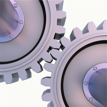 3D-Illustration of Gears on White Background Stock Photo - Premium Royalty-Free, Code: 600-06936137