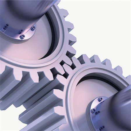 3D-Illustration of Gears on White Background Stock Photo - Premium Royalty-Free, Code: 600-06936139