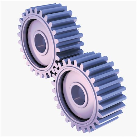 3D-Illustration of Gears on White Background Stock Photo - Premium Royalty-Free, Code: 600-06936140