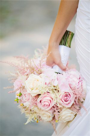 rose - Close-up of Bride Holding Bouquet of Flowers, Toronto, Ontario, Canada Stock Photo - Premium Royalty-Free, Code: 600-06939690