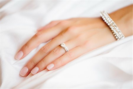 female only - Close-up of Bride's Hand with Wedding Ring, Toronto, Ontario, Canada Stock Photo - Premium Royalty-Free, Code: 600-06939691