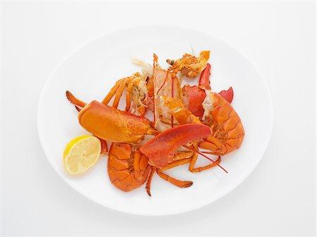 Leftovers of Lobster Dinner, Studio Shot Stock Photo - Premium Royalty-Free, Code: 600-06967731