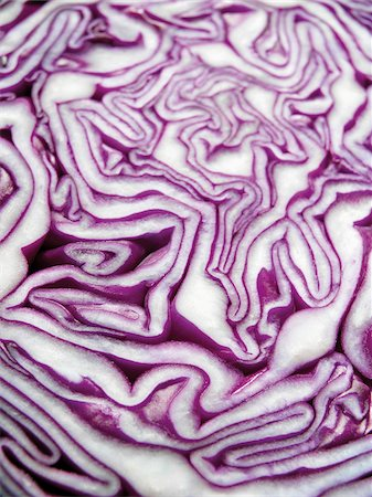 Close-up of Cross-Section of Red Cabbage Stock Photo - Premium Royalty-Free, Code: 600-06967743