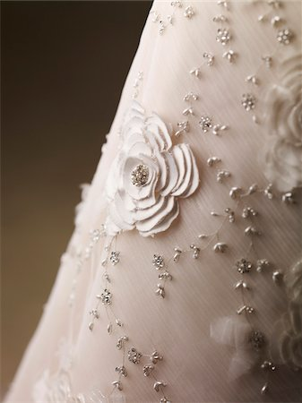 Detail of Wedding Dress, Studio Shot Stock Photo - Premium Royalty-Free, Code: 600-07067600