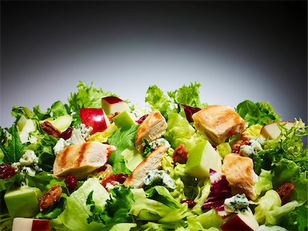 salad - Close-up of Chicken and Apple Salad, Studio Shot Stock Photo - Premium Royalty-Free, Code: 600-07067657