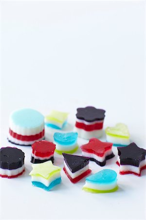 Colourful Gelatin Candies, Studio Shot Stock Photo - Premium Royalty-Free, Code: 600-07067653