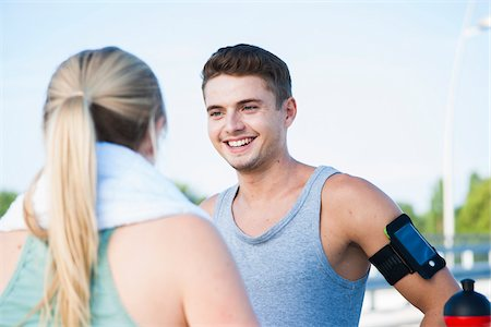 runner (male) - Young Couple Exercising, Worms, Rhineland-Palatinate, Germany Stock Photo - Premium Royalty-Free, Code: 600-07110570