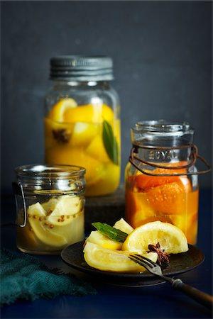 fork - Preserved Citrus Fruits, Studio Shot Stock Photo - Premium Royalty-Free, Code: 600-07110683