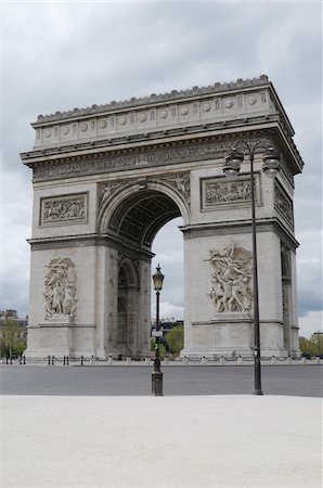 estructura - Arc De Triomphe, 8th Arrondissement, Paris, France Foto de stock - Sin royalties Premium, Código: 600-07122881
