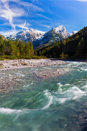 snow capped - Rissbach in Karwendel Mountains, Austria Stock Photo - Premium Royalty-Free, Code: 600-07143680
