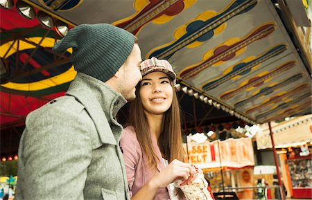 Young Couple at Amusement Park, Mannheim, Baden-Wurttemberg, Germany Stock Photo - Premium Royalty-Free, Code: 600-07156260