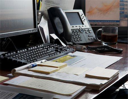 Organized Office Desk Stock Photo - Premium Royalty-Free, Code: 600-07199432