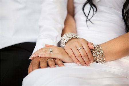 ring hand woman - Close-up of Bride and Groom's hands, Wedding Day, Ontario, Canada Stock Photo - Premium Royalty-Free, Code: 600-07199814