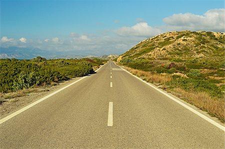 Coastal road, near Apolakkia, Rhodes, Dodecanese, Aegean Sea, Greece, Europe Stock Photo - Premium Royalty-Free, Code: 600-07199976