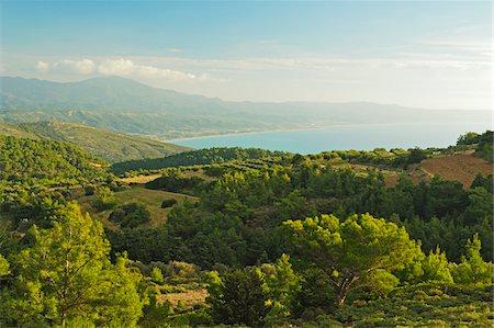 View of Apolakkia Bay from Monolithos, Rhodes, Dodecanese, Aegean Sea, Greece, Europe Stock Photo - Premium Royalty-Free, Code: 600-07199983