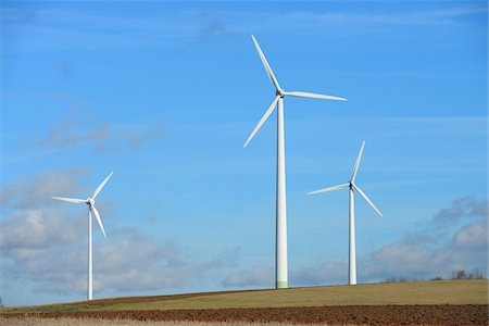 Wind Turbines, Hesse, Germany Stock Photo - Premium Royalty-Free, Code: 600-07204166