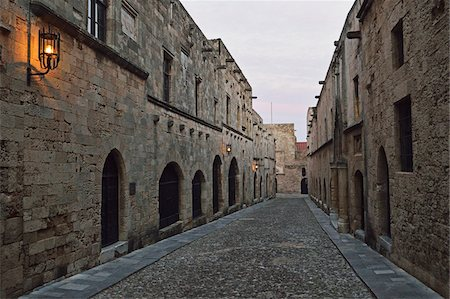 Avenue of the Knights, Old Town, Rhodes City, Rhodes, Dodecanese, Aegean See, Greece, Europe Stock Photo - Premium Royalty-Free, Code: 600-07202689