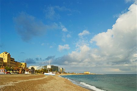 sailboat  ocean - Rhodes City beach, Rhodes, Dodecanese, Aegean See, Greece, Europe Stock Photo - Premium Royalty-Free, Code: 600-07202693