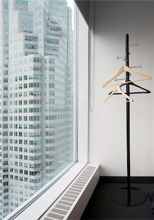 renting - View from office window and coat stand, Toronto, Ontario, Canada Stock Photo - Premium Royalty-Free, Code: 600-07240900