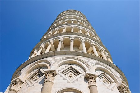 Looking up at Leaning Tower of Pisa, Piazza dei Miracoli, Pisa, Tuscany, Italy Stock Photo - Premium Royalty-Free, Code: 600-07288051