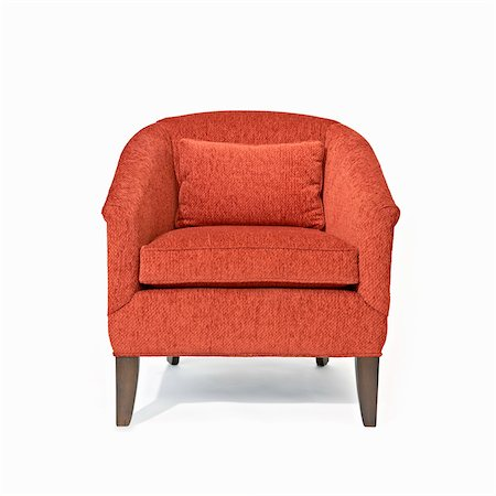 red chair - Modern Traditional Chair, Studio Shot Stock Photo - Premium Royalty-Free, Code: 600-07311371