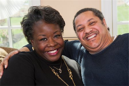 fat black woman - Portrait of Happy Mature Couple at Home Stock Photo - Premium Royalty-Free, Code: 600-07368539
