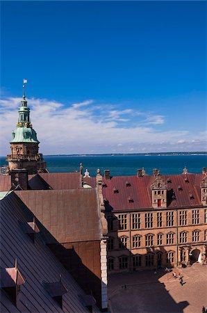 picture - Kronborg, Helsingor, Zealand Island, Denmark Stock Photo - Premium Royalty-Free, Code: 600-07363900