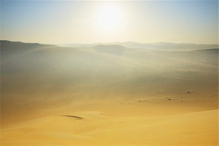 Sun over Sand Dunes with Morning Mist, Matruh, Great Sand Sea, Libyan Desert, Sahara Desert, Egypt, North Africa, Africa Stock Photo - Premium Royalty-Free, Code: 600-07431212