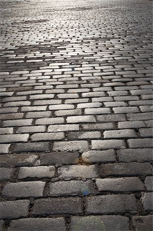 Cobblestone Street near Ellis Island, New York City, New York, USA Stock Photo - Premium Royalty-Free, Code: 600-07458572