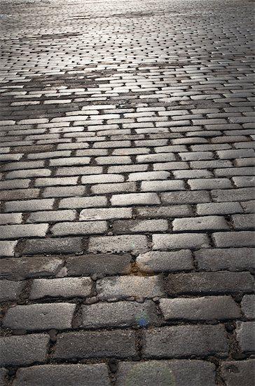 Cobblestone Street near Ellis Island, New York City, New York, USA Stock Photo - Premium Royalty-Free, Artist: Andrew Kolb, Image code: 600-07458572