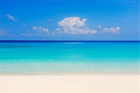 Beach and Ocean, Anse Intendance, Mahe, Seychelles Stock Photo - Premium Royalty-Free, Code: 600-07453872
