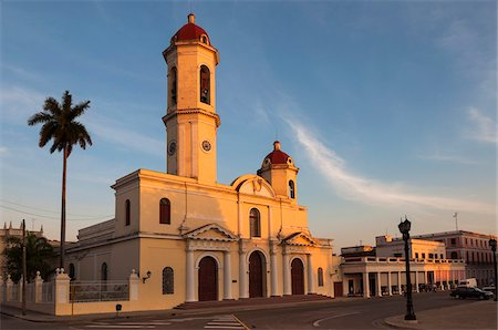 The Cathedral of the Immaculate Conception, Parque Jose Marti, Cienfuegos, Cuba, West Indies, Caribbean Stock Photo - Premium Royalty-Free, Code: 600-07486878