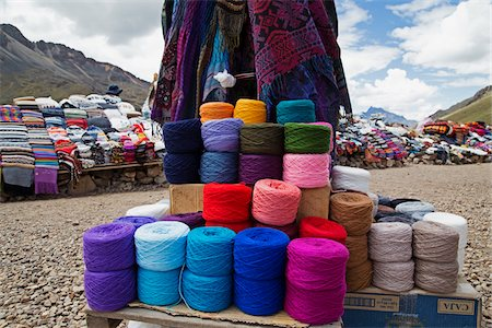 peru and culture - Roadside Weaving Vendor, Altiplano Region, Peru Stock Photo - Premium Royalty-Free, Code: 600-07529087
