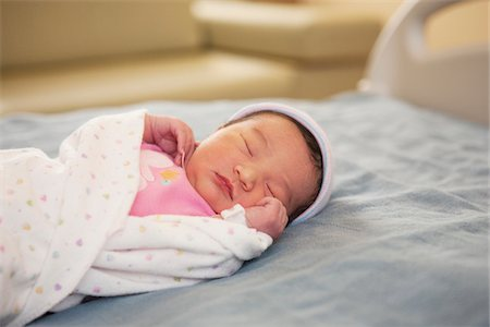 Newborn Baby Girl in Hospital Stock Photo - Premium Royalty-Free, Code: 600-07529214