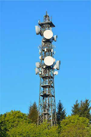 Cell Tower, Odenwald, Hesse, Germany Stock Photo - Premium Royalty-Free, Code: 600-07561370