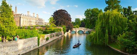 europe - Cambridge city centre, the River Cam and university buildings, Cambridge, England. Stock Photo - Premium Royalty-Free, Code: 600-07584739